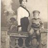 Феодосия Павловна Пальчикова (урожд. Зеленская) с сыном Николаем Павловичем