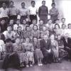 Коллектив учителей и учащихся Денисовской школы. 1955 год