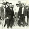 Н.А.Назарбаев на полях Диевского совхоза