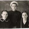 Кустанай 1 Мая 1946 года. Три подружки