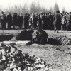 Закладка фундамента памятника погибшим воинам в парке Победы