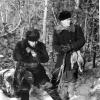 Охота возле з/с «Славянский» Карабалыкского р-на. Никифор Старчиков и электросварщик Владимир. 1960