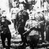 Бойцы 150-й стрелковой дивизии на ступеньках Рейхстага