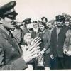 Космонавт Волынов Борис Валентинович на месте своего приземления