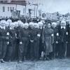 Санитарная дружина обувной фабрики на параде 1 мая 1954 года