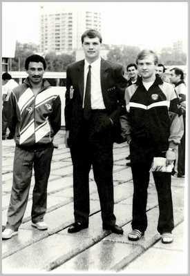 1988 год. Хабаровск.  Эрик Хакимов, Александр Мирошниченко и Александр Островский