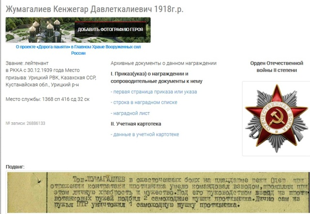 Жумагалиев Кенжигара