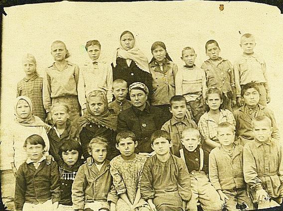 Интернациональный класс Аятской школы. 1948 год