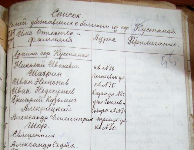 Из списка. 1919 год