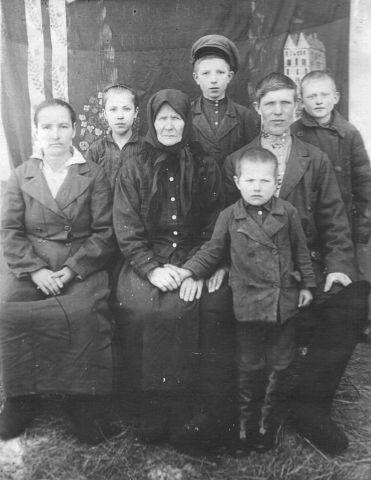 1939 год. Семья Хоменко Петра Трофимовича