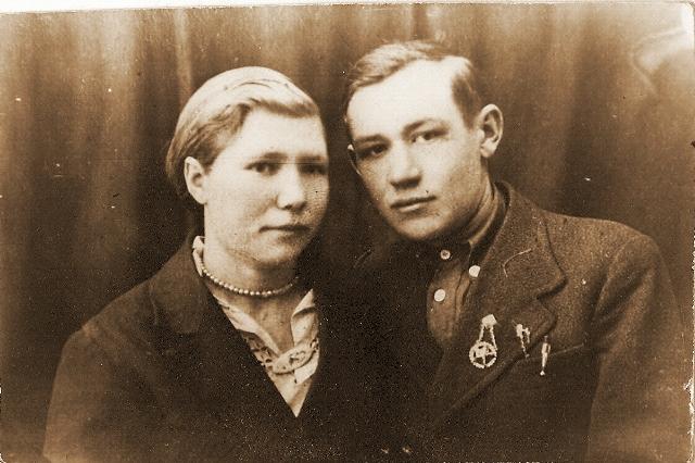 Перцев Иван Никифорович с женой Татьяной Андреевной (Князевой)