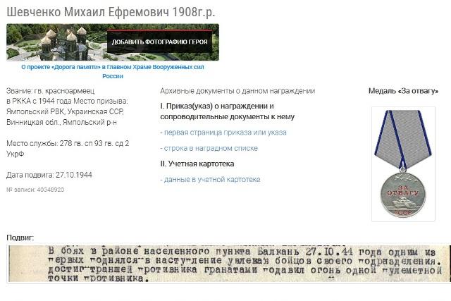Шевченко Михаил Ефремович