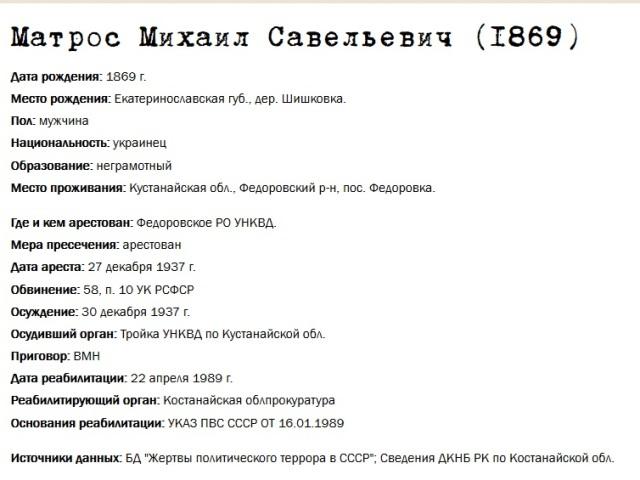 Матрос Михаил Савельевич
