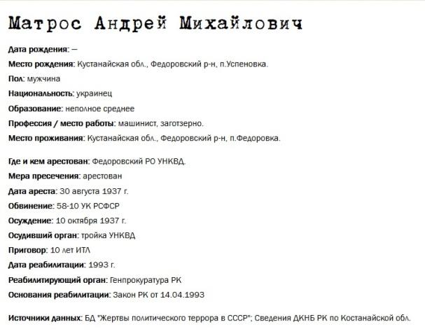Матрос Андрей Михайлович