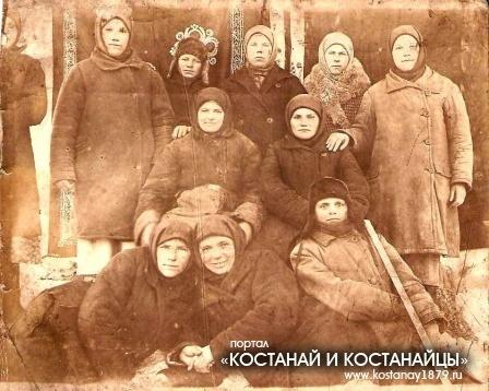 Женщины села Степановка в военные годы