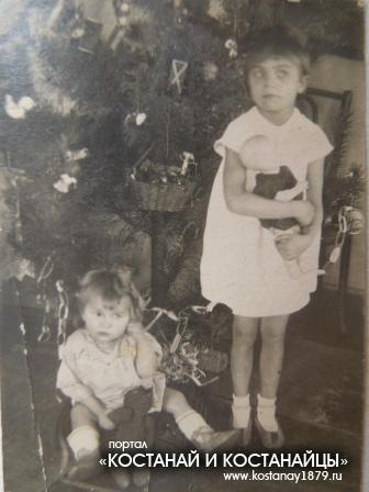 Нина и Вера Чермениновы 1946 год