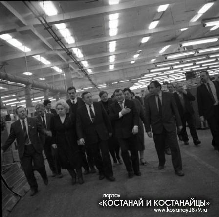 Н.А. Назарбаев в Костанае