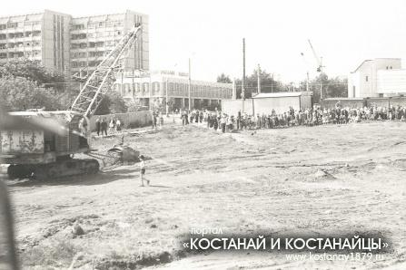 Закладка храма. Август 1993 года
