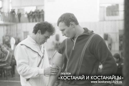 На соревнованиях по боксу. 1986 год