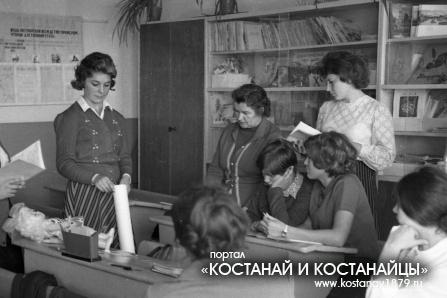 Учащиеся педучилища на практике. 1976 год