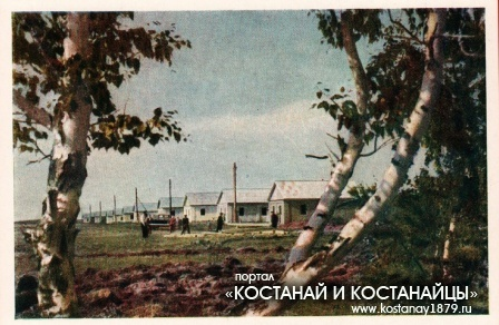Поселок Симферопольского зерносовхоза Кустанайской области