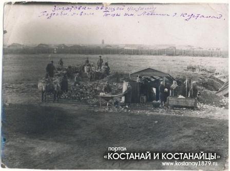Заготовки овощей на зиму подсобным хозяйством больницы имени Ленина