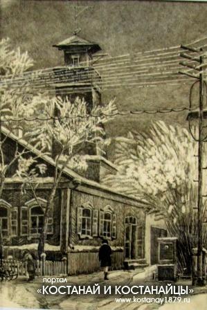 Старый город. Рисунок А.И.Никифорова