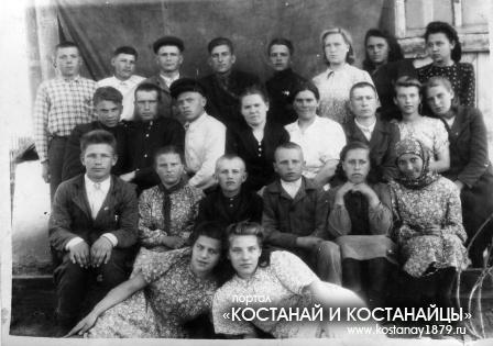 Введенская школа. Апрель 1951 года